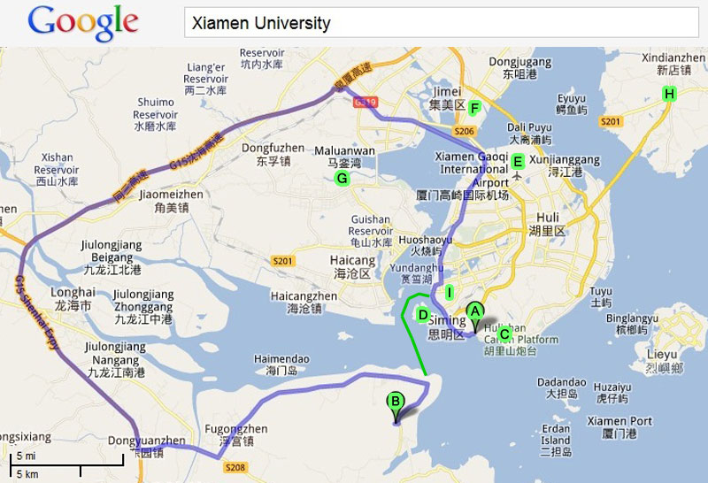 Pin Xiamen China Map On Pinterest Citiestips Com